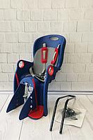 Детское Велокресло TILLY Maxi от 1 до 7 лет (до 22 кг) Крепление на раму или багажник Сине-красное