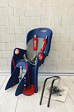 Дитяче Велокрісло TILLY Maxi від 1 до 7 років (до 22 кг) Кріплення на раму або багажник Синьо-червоне