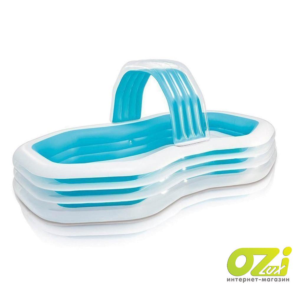 Детский надувной бассейн Intex 57198 «Оазис», 310 х 188 х 130 см, с навесом и фонтаном