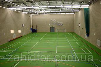 Бесшовное полиуретановое покрытие TETRAPUR для спортивных залов / поліуретанове покриття для спортивних залів