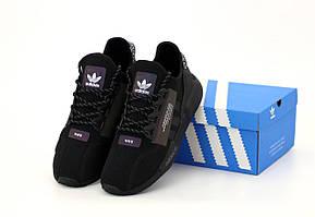 Кроссовки Adidas NMD R1 V2 Core Black (Мужские черные Адидас НМД 41-45 весна/лето)