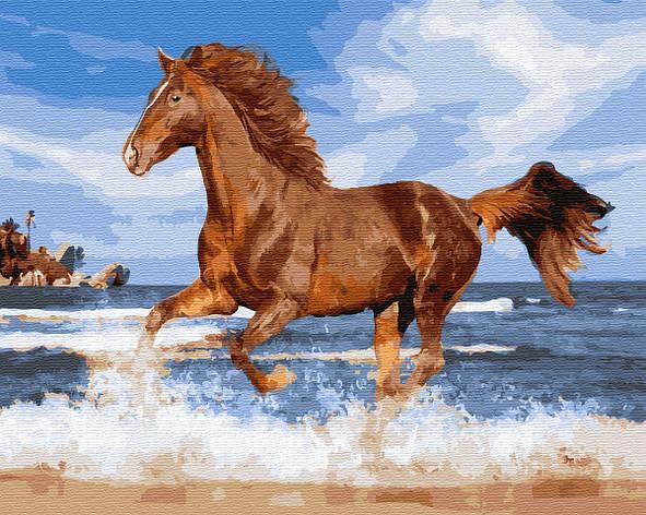 """Картина по номерам. Brushme """"Конь у моря"""" GX29794, фото 2"""