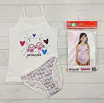 Комплект детского белья: 3-4 года, трусики + майка для девочек 655816127110