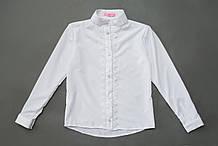 Сорочка для дівчинки з довгим рукавом SmileTime Soft, біла