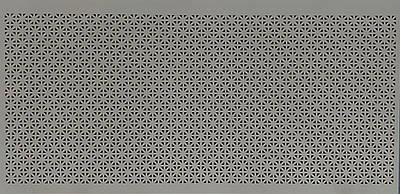 Панель (решетка) декоративная перфорированная, 1390 мм х 680 мм Сити, Серый