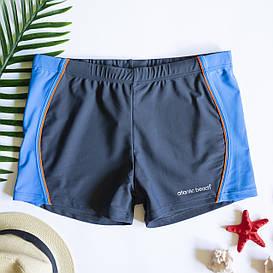 Мужские плавки шорты Серый /Голубой