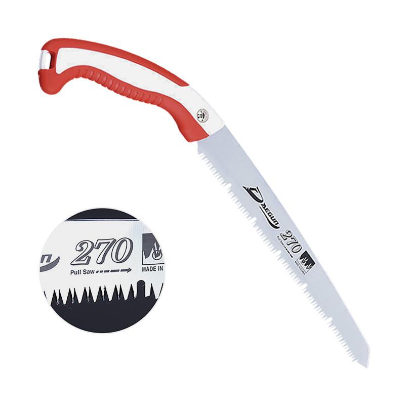 Ручная садовая ножовка Daegun 270 мм Red + White прямая для обрезки ветвей