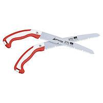 Ручная садовая ножовка Daegun 270 мм Red + White прямая для обрезки ветвей, фото 4