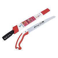 Ручная садовая ножовка Daegun 270 мм Red + White прямая для обрезки ветвей, фото 5