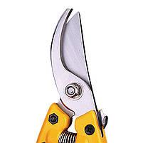 Секатор садовый Lesko P-V8 210 мм для обрезки веток сталь универсальный, фото 2