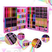 Набор для детского творчества и рисования Lesko Super Mega Art Set 288 предметов Pink детское творчество