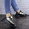 Женские черные кроссовки Button 1745, фото 2