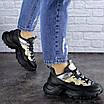 Женские черные кроссовки Button 1745, фото 3