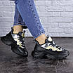 Женские черные кроссовки Button 1745, фото 5