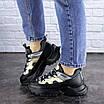 Женские черные кроссовки Button 1745, фото 6