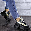 Женские черные кроссовки Button 1745, фото 8