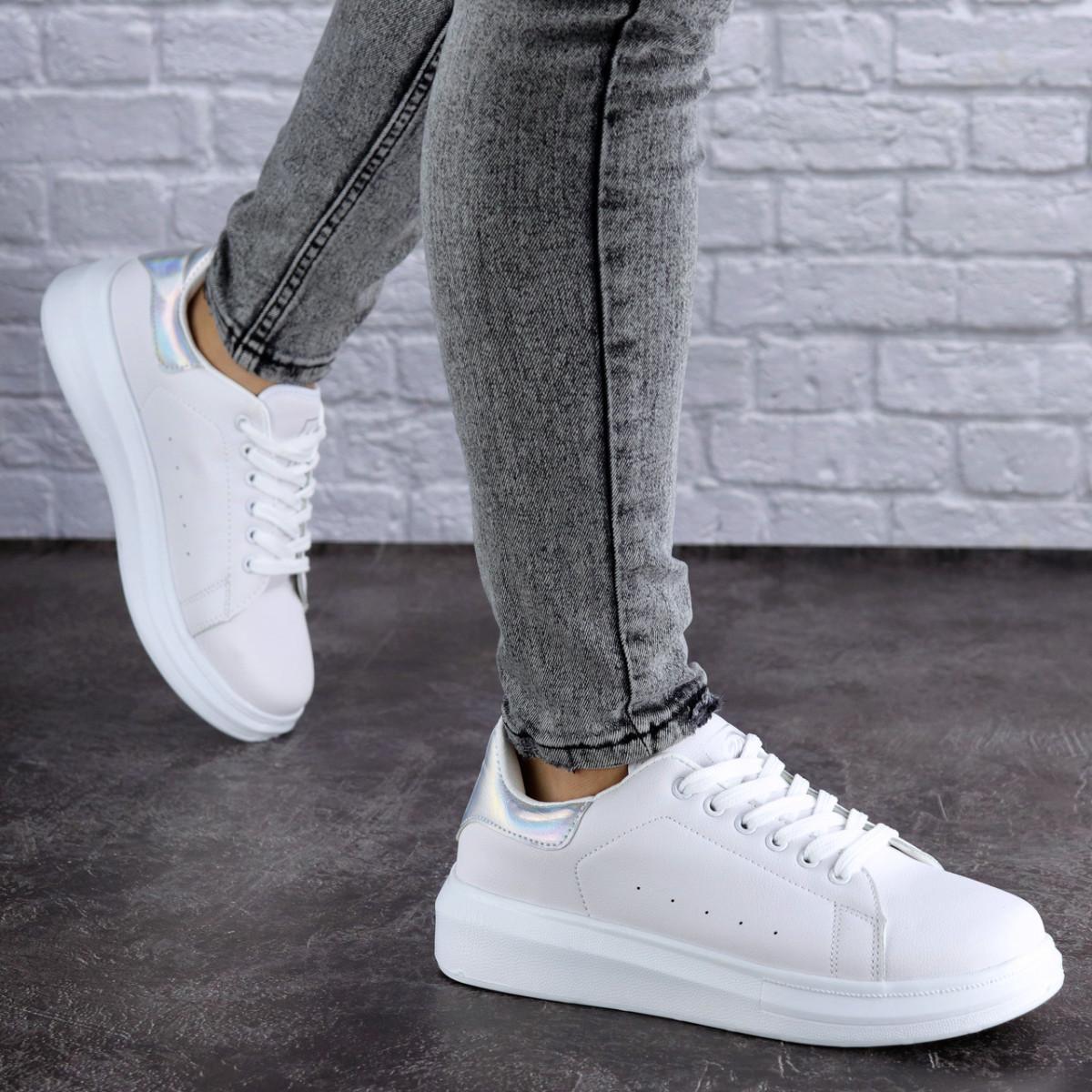 Женские белые кроссовки Fletcher 1736