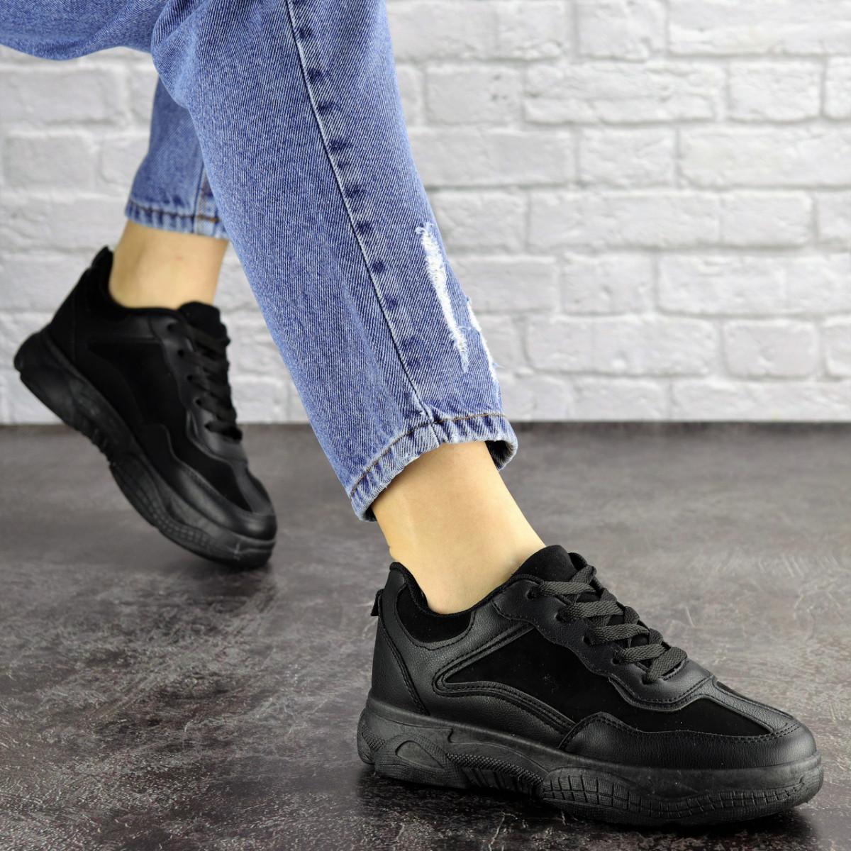 Женские черные кроссовки Rosco 1674