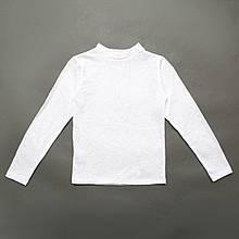 Біла ажурна блуза водолазка для девочк, SmileTime Azhur