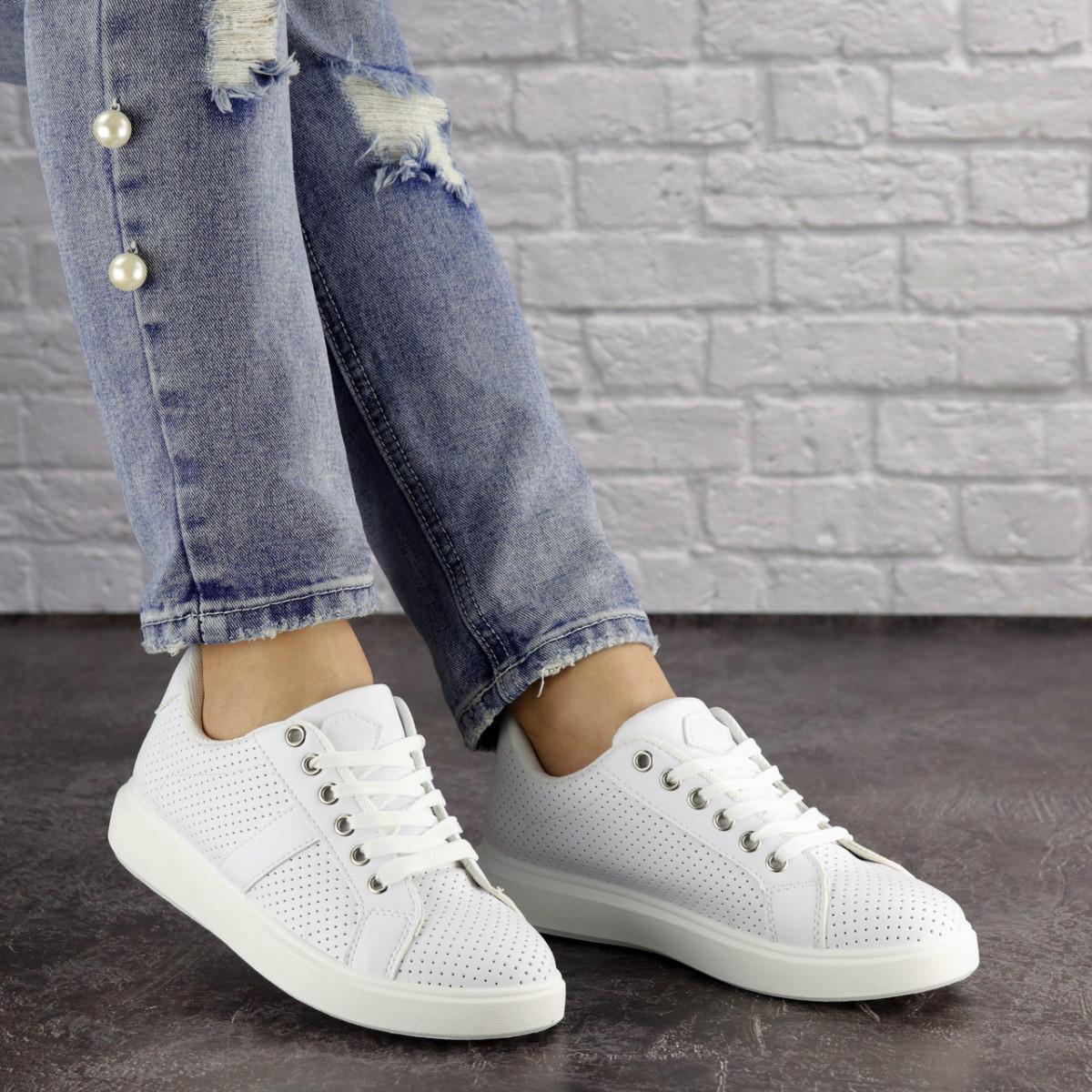 Женские белые кроссовки Jenna 1635