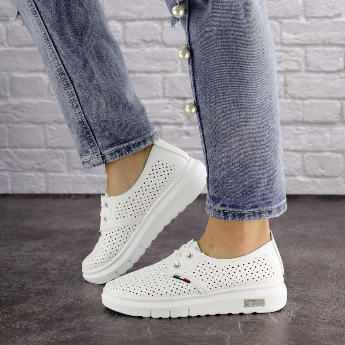 Женские белые кроссовки Jock 1638