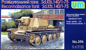 Разведывательный танк Sd. Kfz.140/1-75. 1/72 UM 396