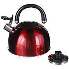 Чайник зі свистком для плити нержавійка A-PLUS 3 л, фото 4
