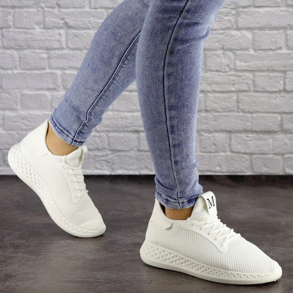 Женские белые кроссовки Prescott 1485