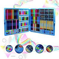 Набор для детского творчества и рисования Lesko Super Mega Art Set 288 предметов Blue художественный