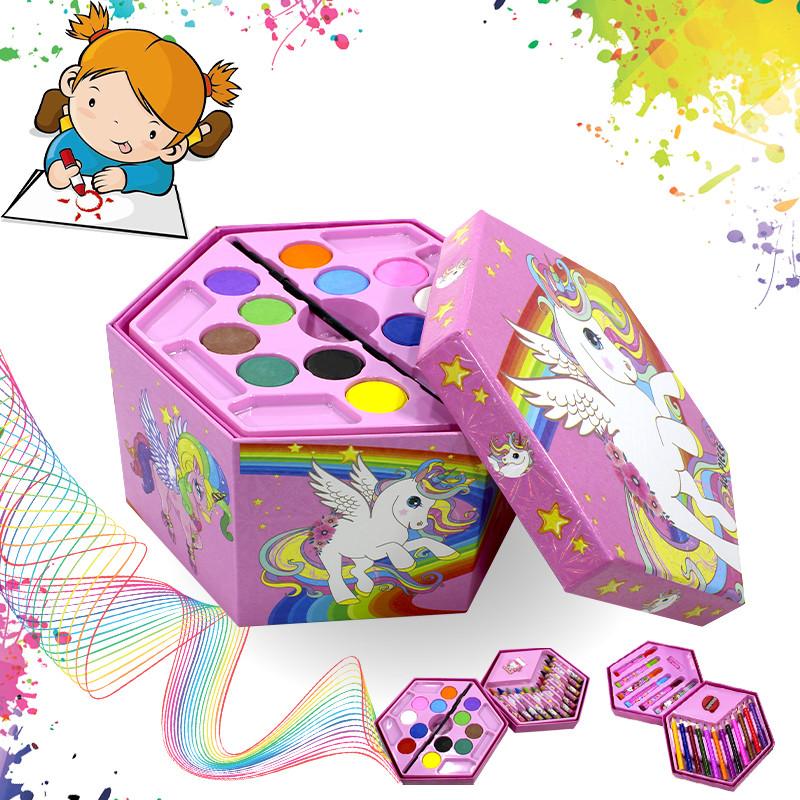 Набор для детского творчества и рисования Painting Set Pink 46 предметов
