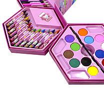 Набор для детского творчества и рисования Painting Set Pink 46 предметов, фото 2