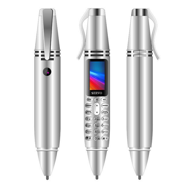 Ручка портативний мобільний телефон з камерою 0.08 MP і Bluetooth AK 007 (Сірий)