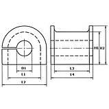 Втулка стабилизатора переднего BYD F3, фото 3