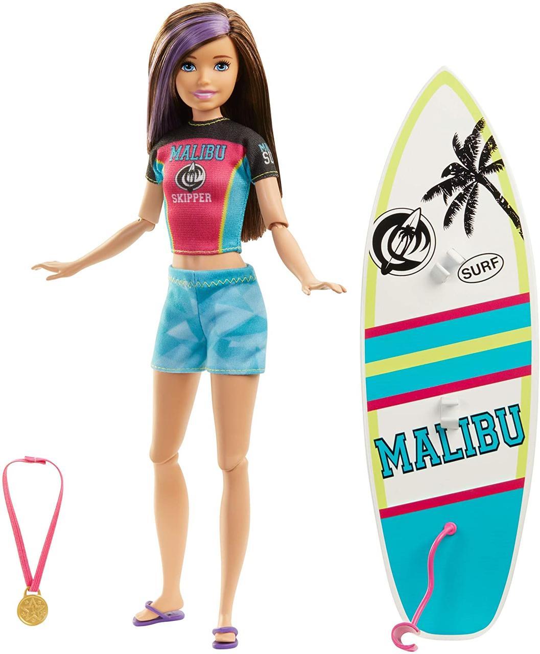 Оригинальная Кукла Барби с доской для серфинга и аксессуарами (GHK36) (887961795226)