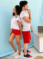 Мужской трикотажный костюм с шортами от48 до58 (2расцв)