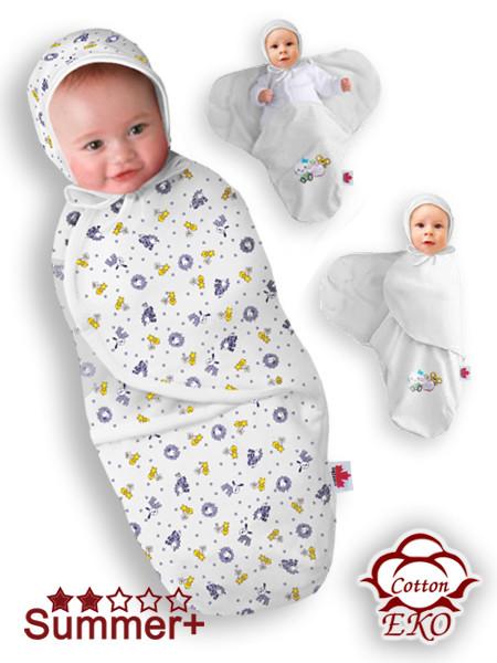 """Пеленка-кокон на липучке для новорожденного """"Веселая ферма"""" - Ontario Baby (DS3/Summer)"""
