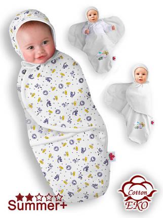 """Пеленка-кокон на липучке для новорожденного """"Веселая ферма"""" - Ontario Baby (DS3/Summer), фото 2"""