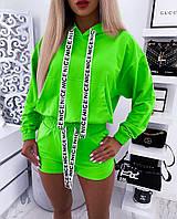 """Трикотажный спортивный женский костюм """"NICE"""" с шортами (3 цвета)"""