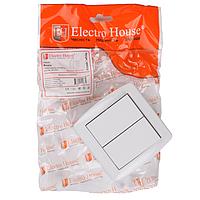 Выключатель ElectroHouse Acura белый 2кл EH-2141