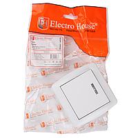 Выключатель с подсветкой ElectroHouse Acura белый 1кл EH-2142