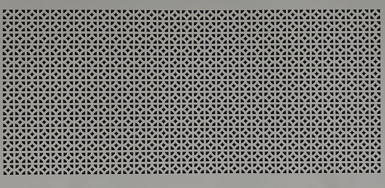 Панель (решетка) декоративная перфорированная, цвет серый, 1390 мм х 680 мм
