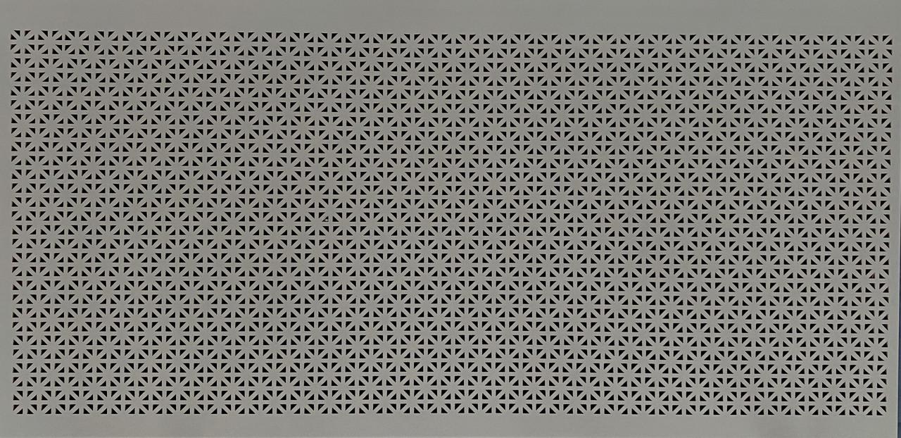 Панель (решетка) декоративная перфорированная, цвет серый, 1390 мм х 680 мм Сити