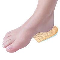 Підп'яточник гелевий покритий шкірою, комфортний для стомлених ніг - пара