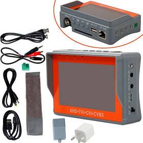 Монитор манжета для установки настройки камер 4в1 AHD TVI CVI CVBS с PTZ
