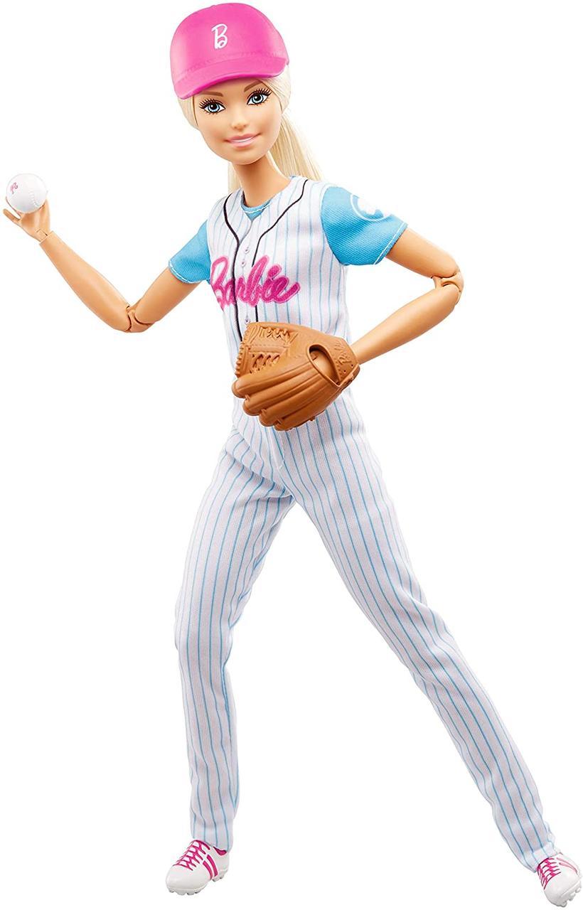 Бейсболистка кукла Барби Оригинал из серии Безграничные Движения (FRL98) (887961628371)