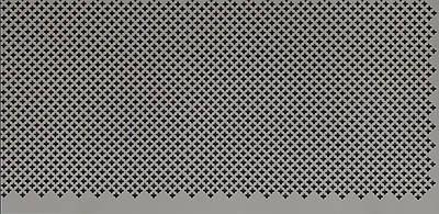 Панель (решетка) декоративная перфорированная, цвет серый, 1390 мм х 680 мм Роял