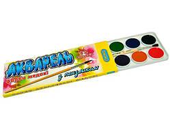Фарби акварельні з пензликом 12 кольорів