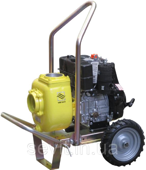 Дизельна грязьова мотопомпа Varisco VAR 1-180 MLD10 G10 TROLLEY на візку