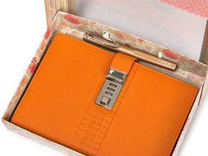 Блокнот-ежедневник с кодовым замком CAGIE Biz 96 Оранжевый NA-56895, фото 2