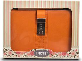 Блокнот-ежедневник с кодовым замком CAGIE Biz 96 Оранжевый NA-56895, фото 3